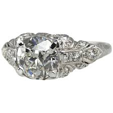 1 56 carat platinum art deco engagement ring art deco jewelry
