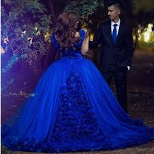 gowns for wedding royal blue gown wedding dresses 2017 flower wedding gowns for