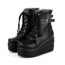 s boots wedge wedge boots black brown the knee ankle ebay