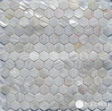 Hexagon Backsplash Tile by Mother Of Pearl Tile 1