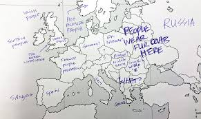 on a map americans were asked to place european countries on a map here s