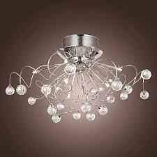 chandelier crystal droplet pendant ceiling light lamps semi