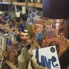 blue navy indigo and copper home decor shop display visual