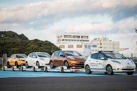nissan leaf towing capacity nissan introduces leaf based driverless towing system at oppama