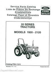 ford 1920 2120 tractor parts manual