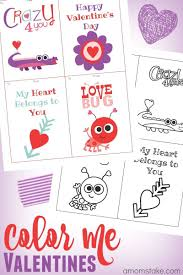 color me valentine printables classroom cards a mom u0027s take