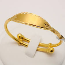 baby gold bracelet with name carat gold name plate baby bangle myshoplah