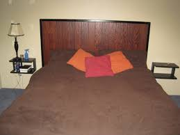 headboard built out of 2x3s and extra wood flooring my projects