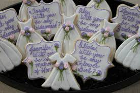 bridal luncheon favors will you be my bridesmaid cookies wedding by 4theloveofcookies