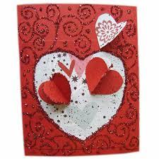 Make Valentines Card - valentines heart card cardmaking kids crafts crafty corner