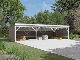 Detached Carport Plans by Nice Shed For Wood Implement Storage Pole Shed Designs