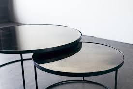 accessories round coffee table with bronze nesting coffee table