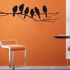 wall art mural decor sticker black cute birds the branch amazing idea enlighten your home with these lively tweeting birds sitting branch beautifully crafted sticker looks real its good qualities