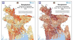 Map Of Central And Southwest Asia by Latest Bangladesh Poverty Maps Launched