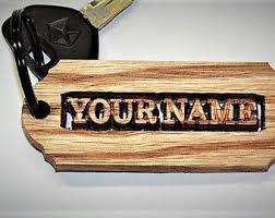 wooden keychain wooden keychain etsy