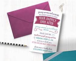 customized invitations your happily after women in excellence theme the