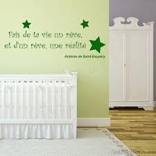 stickers phrase chambre stickers déco mur peint citation célèbre antoine de exupéry