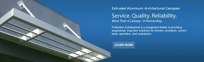 Architectural Metal Awnings Aluminum Walkway Cover Suspended Canopies Pitched Roof
