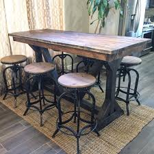 rustic high top table adorable rustic unique round high top table and four chairs with