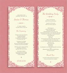 template for wedding ceremony program 17 best images about projects to try on wedding ceremony