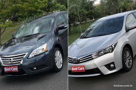 sentra vs corolla em comum muito mais que o cvt best cars