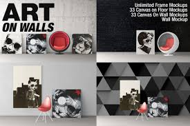 art on wall frames canvas wall mockups on behance