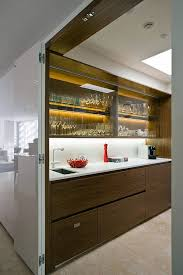 interior design of a kitchen small apartment in sydney chic contemporary decor of minosa design