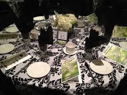nhba gala 2012 black white lime green table decor auction