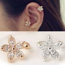 jual ear cuff jual fashion 1pc flower ear cuff earring fashion womens