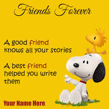 write name on best friends forever greeting card