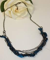 ribbon necklace images Elishia multi stranded black chain ribbon necklace JPG