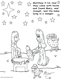 coloring pages of jesus birth story bible throughout
