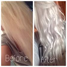 Silver Blonde Color Hair Toner | silver grey hair using wella t18 toner on box dyed blonde hair