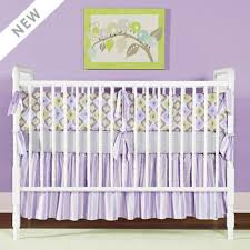 little house ikat lavender crib set the frog and the princess