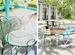 Pastel Dining Chairs 10 Easy Pieces Outdoor Dining Chairs In Shades Of Gardenista