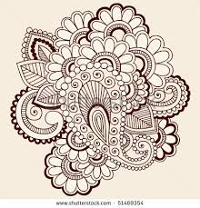 flowers henna tattoo design on hand photos pictures and