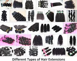 hair clip types different types of hair extensions