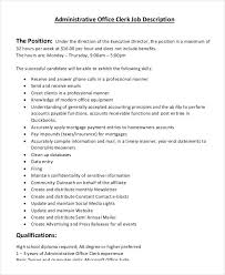 payroll clerk job description county clerk cover letter clerical