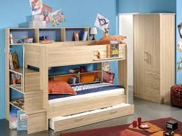 Single Bunk Bed With Desk Loft Bed With Desk And Storage Creative Bunk Beds Kids Style On