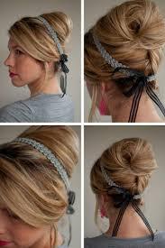 Frisuren Anleitung Mit Haarband by Frisur Mit Haarband Mittellange Haare Mode Frisuren