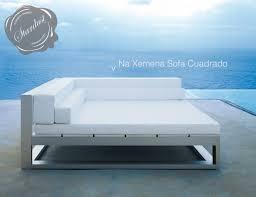 Modern Outdoor Lounge Sofa Gandia Blasco Na Xemena Sofa Cuadrado - Modern outdoor sofa
