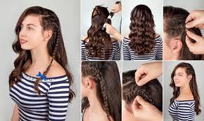 hair tutorial hairstyle for long hair tutorial stock image image of hairdo