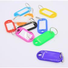 amazon com key id tags 50 pack luggage labels key fob split ring