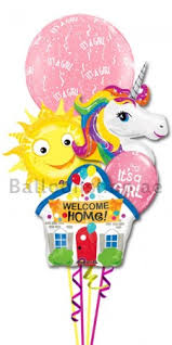 welcome home balloon bouquet new born baby girl welcome home balloon bouquet delivery in dubai