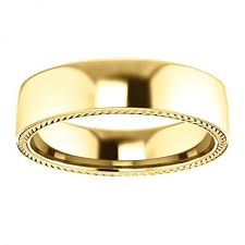 wedding bands design 14k yellow gold wheat design mens wedding band 14k yellow gold
