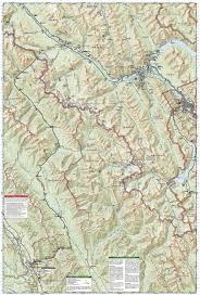 Banff National Park Map Banff South Banff And Kootenay National Parks National