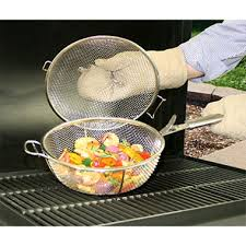 backyard classic professional gourmet stainless steel mesh basket