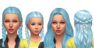 sims 4 blue hair mod the sims baby blue pastel blue non default hair colour