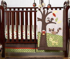 Tigger Crib Bedding 4p Vintage Green Patchwork Pooh Piglet Tigger Honey Neutral Baby