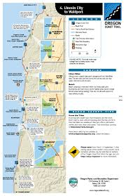 Map Of Lincoln City Oregon mile by mile recreational guide for the oregon coast